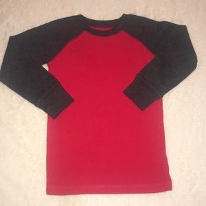 Red & Gray Long Sleeve